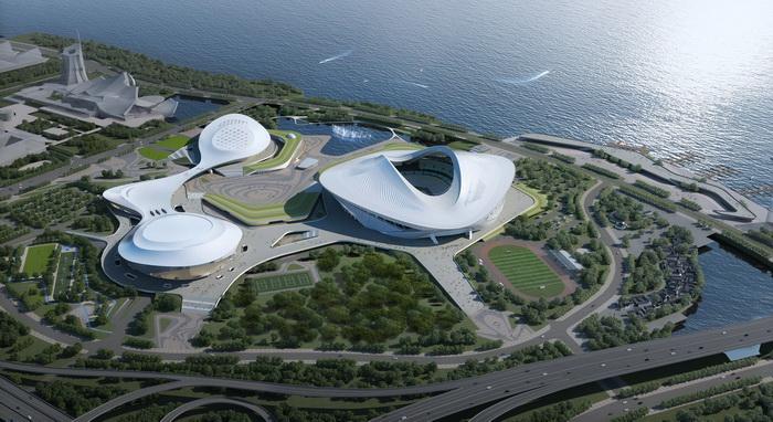 """厦门市新体育中心首创""""变身球场""""创新设计 获亚足联点赞"""